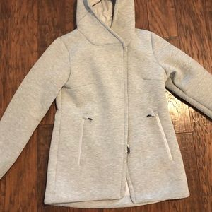 NORTH FACE jacket coat women's gray quilted
